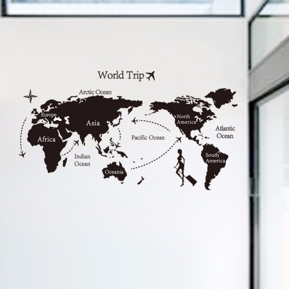 80140cm travel the world map background wall stickers removable 80140cm travel the world map background wall stickers removable bedroom wall wallpaper art applique home decor in wall stickers from home garden on gumiabroncs Image collections