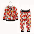 Floral Newest Girls Tracksuits Chrysanthemum Children Jackets Pants Girl Sport Suits Hooded Coat Trouser 2 3 4 5 6 7 8 9 Years