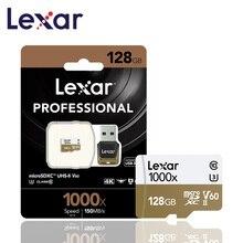 Оригинальный Lexar карты Micro SD карты 128 ГБ UHS II U3 Max 150 МБ/с. автомобиль TF карты флэш памяти класса 10 для беспилотная спортивная видеокамера