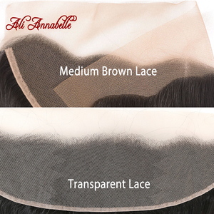 """Image 4 - ALI ANNABELLE HAIR Brazilain Loose Wave 13x4 Lace Frontal Remy Human Hair Transparent Lace Frontal/Medium Brown 130% 10"""" 20"""""""