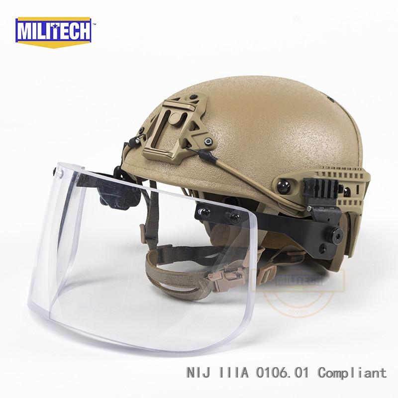 Sicherheit & Schutz Militech Schnelle Helm Offizielle Labor V50 Ballistischen Grenze Test Video Präsentiert Durch Obl