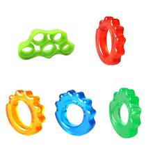 Finger Resistance Silicone Band Exerciser PVC Hand Gripper Ring Grip Trainer Str