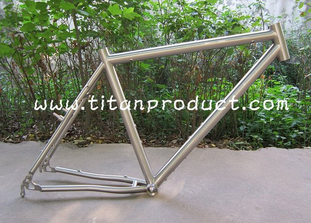 Titanium Cyclo cross Frame with Internal Cable Rounting, Disc Brake ...