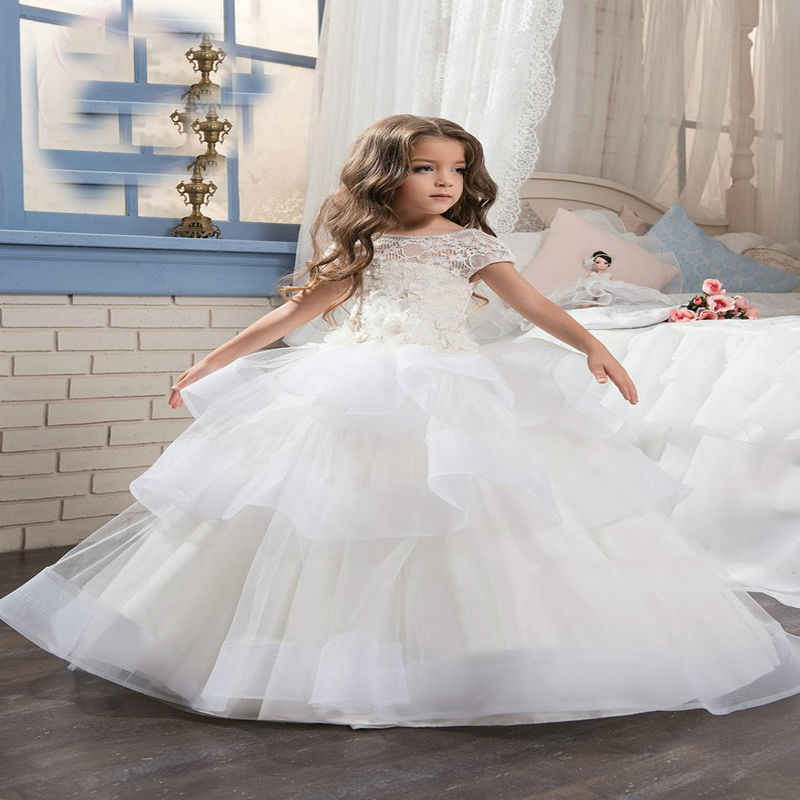 Ball Gown First Communion Dresses for Girls Tulle Kids Beauty Pageant Dresses Sleeveless Summer Dress Mother Daughter Dresses princess lace first communion dresses for girls 10 12 puffy ball gown pageant dfress for girls tulle mother daughter dresses