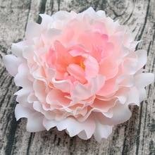 8 Colors 1 Pieces 15cm Peony Flower Head Artificial Flowers For WeddingS Bride Bouquet Flowers Decor