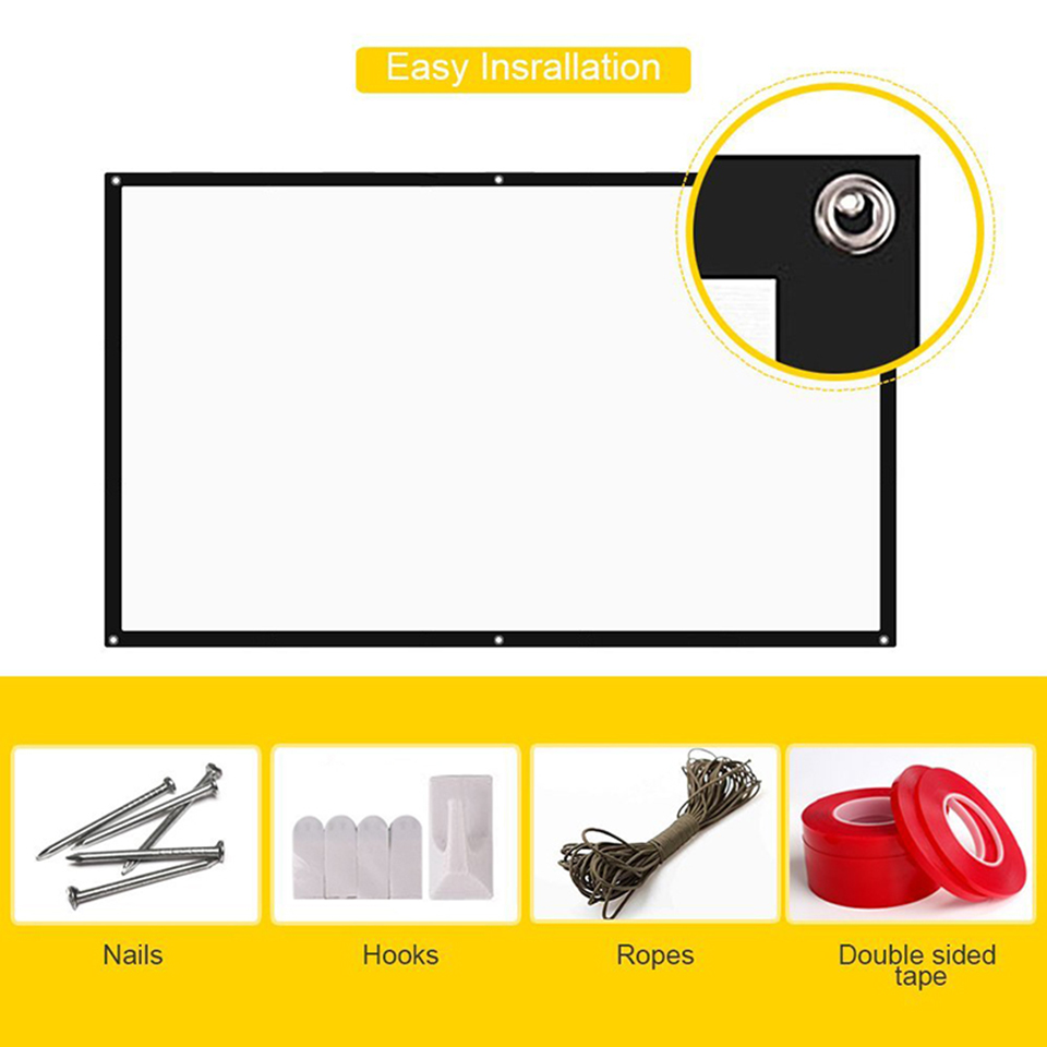 100 Inch Simple Projection Screen-10