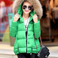 Плюс Размер 2016 Зима Новый Способа Прибытия Твердые Искусственного Меха Hat Теплый Мягкий Красивый Куртка Женщин Вниз Пальто