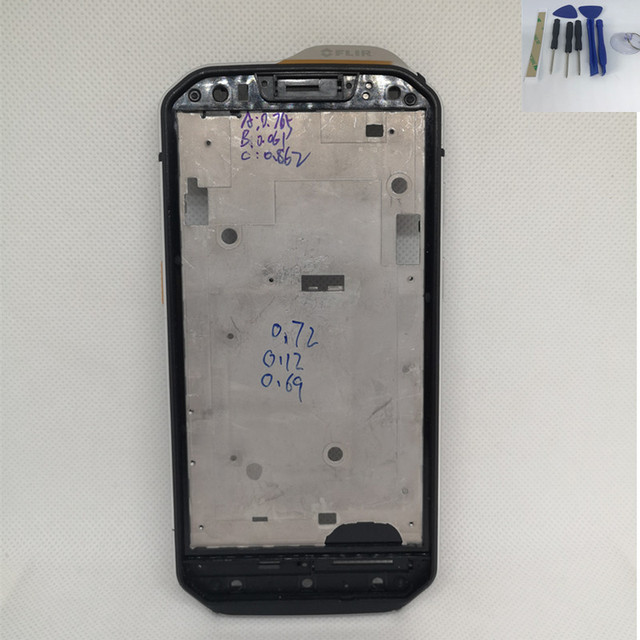 61e86fe9ba3f3a Originele Voor Caterpillar CAT S60 Front Frame Behuizing Case Accessoires  Reparatie Onderdelen Voor KAT S60 Mobiele