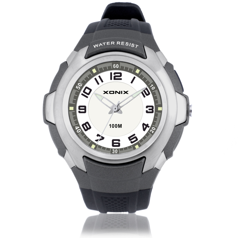 Watch Men XONIX brand Fashion Casual quartz watch Student watches Montre Femme Reloj Mujer pu Waterproof Sport Wristwatches SR