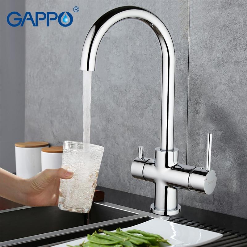 GAPPO Waterfilter Taps Kitchen Faucet Mixer Taps Water Faucet Kitchen Sink Mixer Bronze Water Tap Sink Torneira Cozinha GA1052-8
