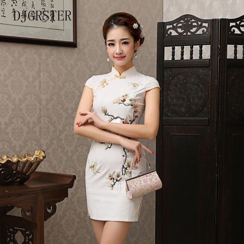 DJGRSTER-Dress-Silk-Satin-Cheongsam-Chinese-Traditional-Dress-Vestido-Short-Sleeve-Embroidery-Qipao-Unique-Chinese-Style