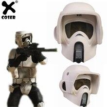 XCOSER Star Wars Scout soldado casco Cosplay máscara 2018 nueva llegada  fiesta de Halloween mostrar Fetish abdl 8394e16c3761