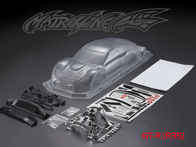 1set GT R R35 GT drift RC PC body shell 190mm width Transparent clean no painted drift body RC hsp hpi trax Tamiya in Parts Accessories from Toys Hobbies