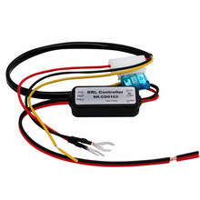 Hausnn controlador automotivo, 1 peça, drl, led, luz diurna, relé, coleira, ligar/desligar, 12-18 controlador de luz neblina v