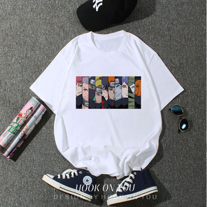 Naruto Akatsuki Pein T Shirt Men Cotton Homme Anime t shirt Brand Casual Streetwear Harajuku Fashion O-Neck Mens T-shirts(China)