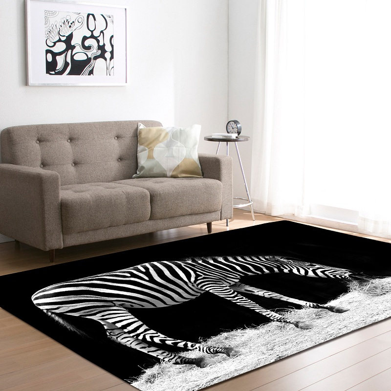 US $42.97 |3D Animal Zebra African Grassland Carpets For The Modern Living  Room Kids Children\'s Rug Anti slip Sajad Round Floor Carpet Mat-in Carpet  ...