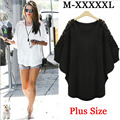 5XL XXXXL 3XL  Women Plus Size Lace Blouse Shirts Casual Loose Bat Tops Blouse Femininas Slim Blouse Ropa Mujer Big Lace Hollow