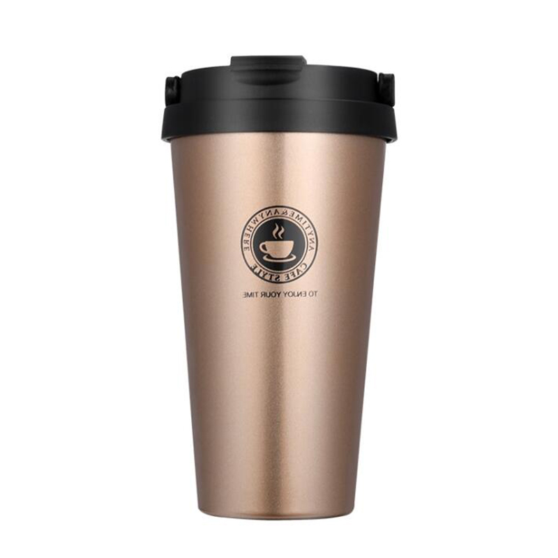 500 ML Hot Creative Stainless Steel Thermos Cup Simple Fashion Vacuum Coffee Cup Travel Cup With Cover For Men And Women