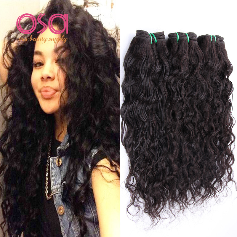 Mink Brazilian Virgin Hair 3 Bundles Deal Water Wave Virgin Hair