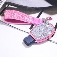 With Diamond Diamond Lady Key Case For Mercedes W203 W210 W211 Amg W204 C E S Cls Clk Cla Slk Classe Smart Car Keychain For Benz