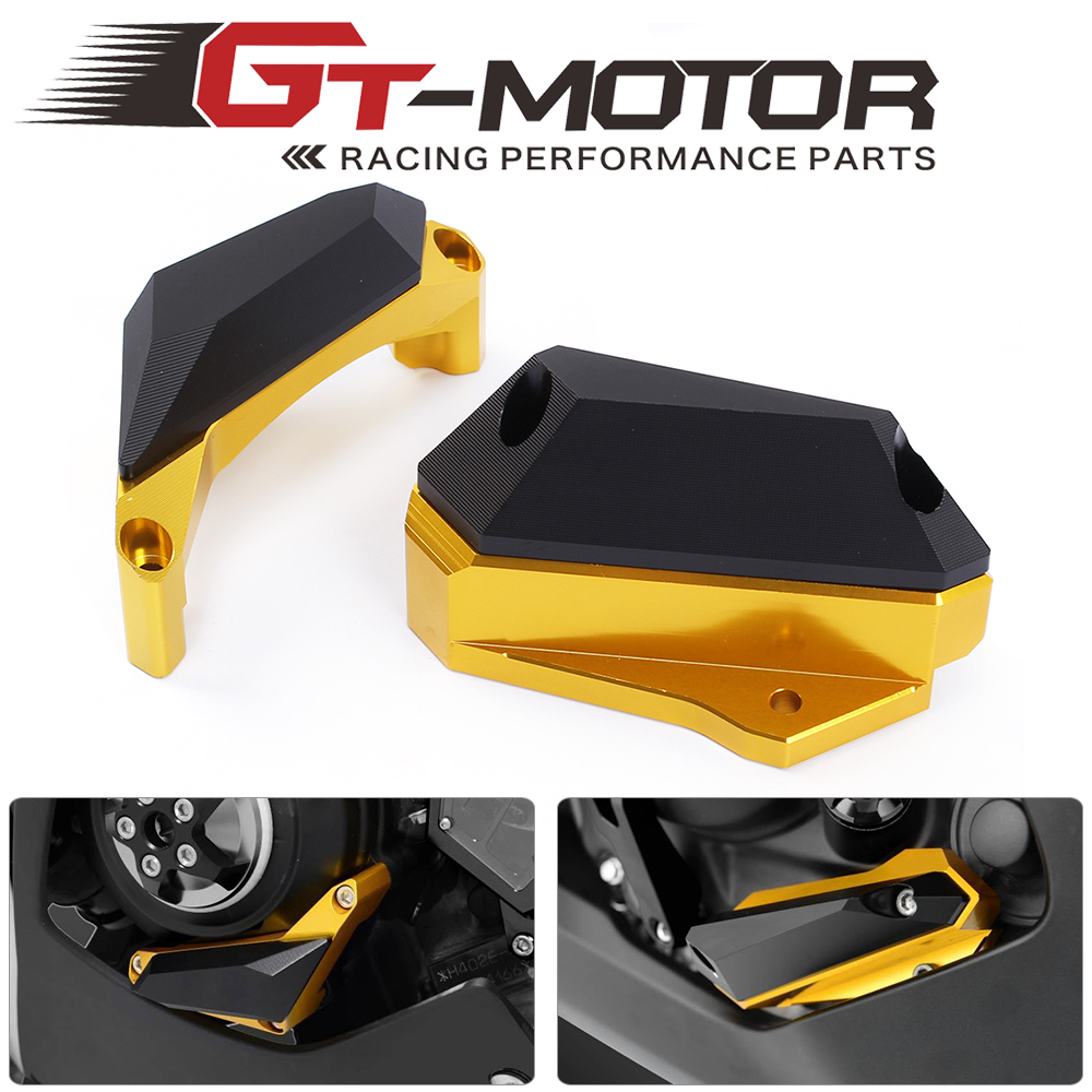 GT-Motor  Motorcycle CNC Frame Slider Engine Stator Case Guard Cover Protector For Yamaha YZF R3 2015 2016  YZF R25 2013-2015 for yamaha yzf r25 yzf r25 2013 2015 yzf r3 yzf r3 2015 2016 motorcycle frame slider engine stator case guard cover protector