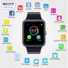 MKUYT GT08 Bluetooth Sport SmartWatch with Camera health monitoring exercise pedometer GSM Card for Android Smartphone