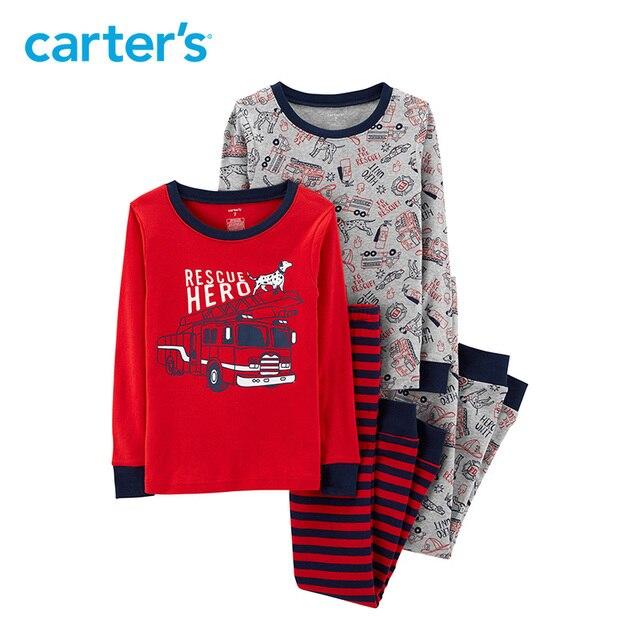 69c6217c6 Carters pajama sets 4-Piece Hero Snug Fit Cotton PJs Cartoon print long  sleeve cotton boys clothes Kids sleepwear 35931018