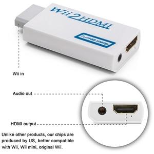 Image 3 - Convertidor Wii a HDMI compatible con FullHD 720P 1080P 3,5mm Adaptador de Audio Wii2HDMI para convertidor HDTV Wii
