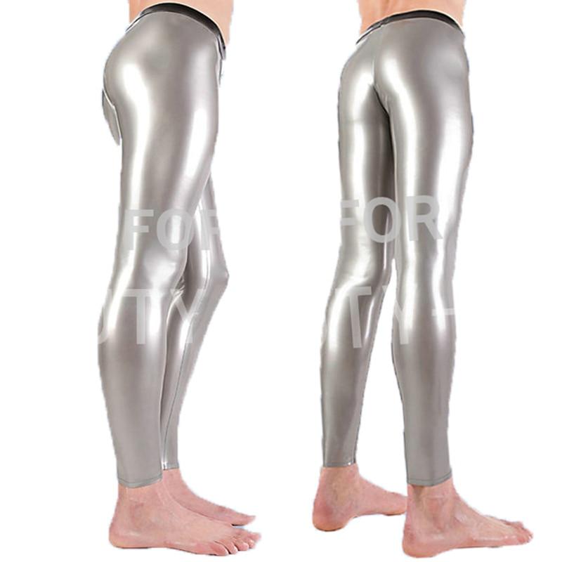 Latex fétiche pantalon Sexy pantalon bas pour hommes Legging avec fermeture éclair grande taille personnalisation naturel fait à la main