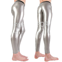 Latex Fetish Trousers Sexy Pants Bottoms For Men Legging With Zipper Plus Size Customization Natural Handmade