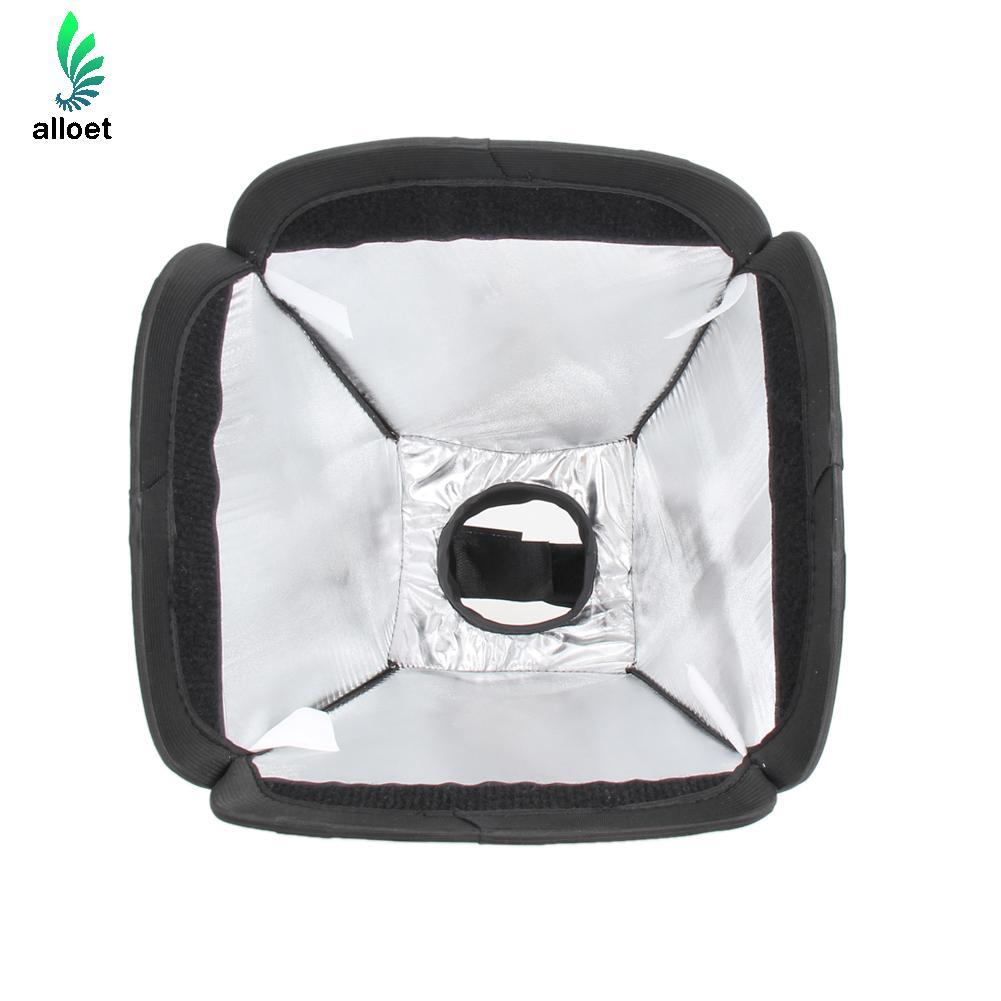 Appareil photo Flash Diffuseur Mini Portable 9 pouces/23 cm Softbox Diffuseur Pour Flash/Speedlite/Flash 23x23 cm