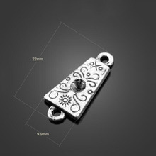 100pcs Antique Silver Connector Charms Pendants-Jewelry Accessories Findings For Fashion Necklace Bracelet Earring 22X9.9mm