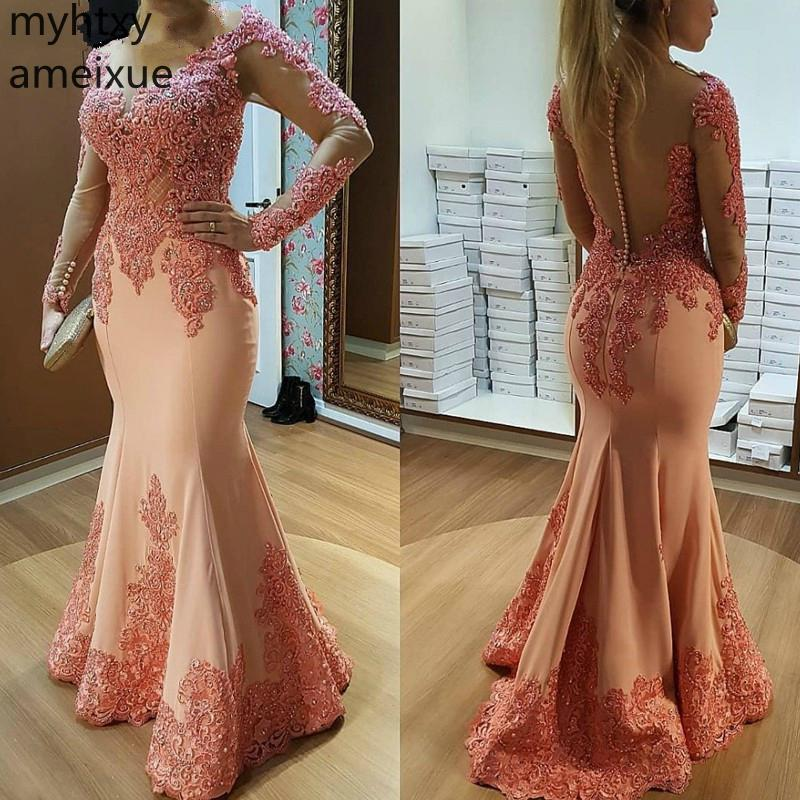 2019 Pink Plus Size Bridesmaid Dresses Ever Pretty Arrival Mermaid Full V-neck Floor-length Tulle Regular Empire Adult Simple(China)