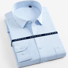 Male Shirt Tops Large Size 5XL 6XL 7XL 8XL Striped / Twill Mens Dress Shirts Men Long Sleeve Slim Button Work