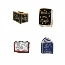 "Book pins collection Reader brooches ""The Book Was Better""Badges Literary Enamel Jewelry Gift for Book Lover friend(China)"