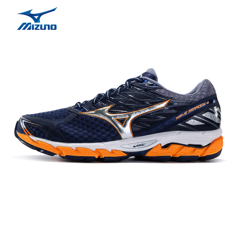 Mizuno Men's PARADOX 4 Running Shoes Wave Cushion Stability Sneakers Light Breathable Sports Shoes J1GC174004 XYP621 mizuno men rebula v3 ag professional cushion soccer shoes sports shoes comfort wide sneakers p1ga178603 yxz069