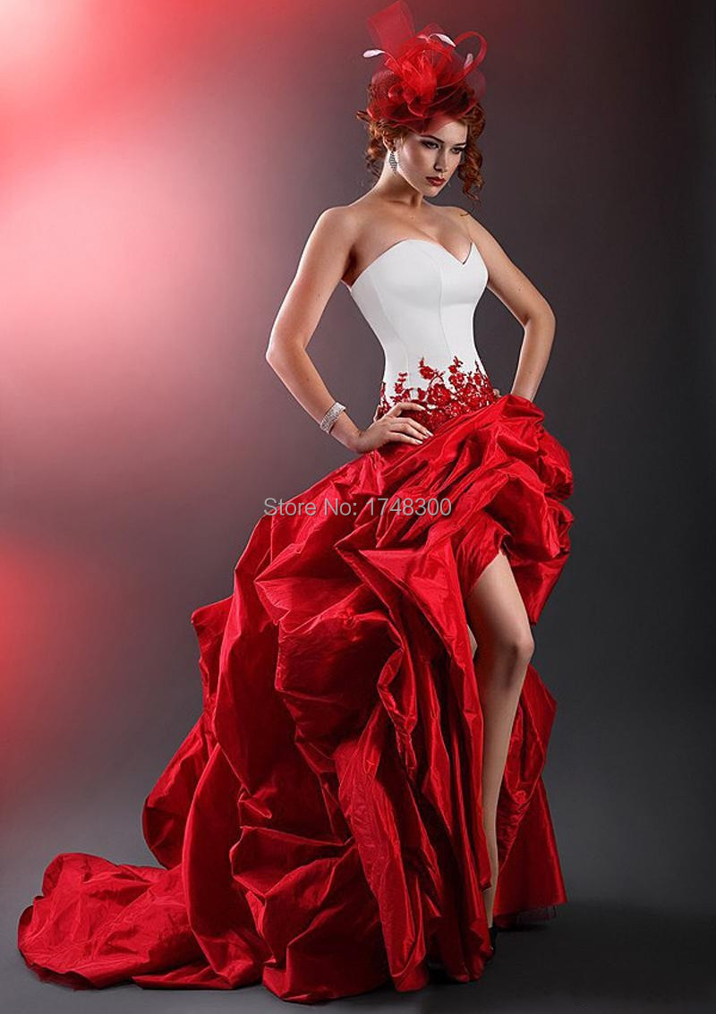 Popular Red High Low Prom Dress-Buy Cheap Red High Low Prom Dress ...