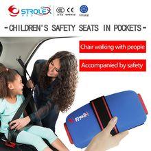 Booster STROB Mini Ifold портативное детское сиденье для безопасности автомобиля, детское автомобильное сиденье, дорожный несессер, ремни безопасности
