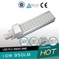 free shipping 10pcs/lot 10W G24 LED PL lamp 52 leds SMD2835 led G23 PLC lamp E27 PL bulb AC85-265V