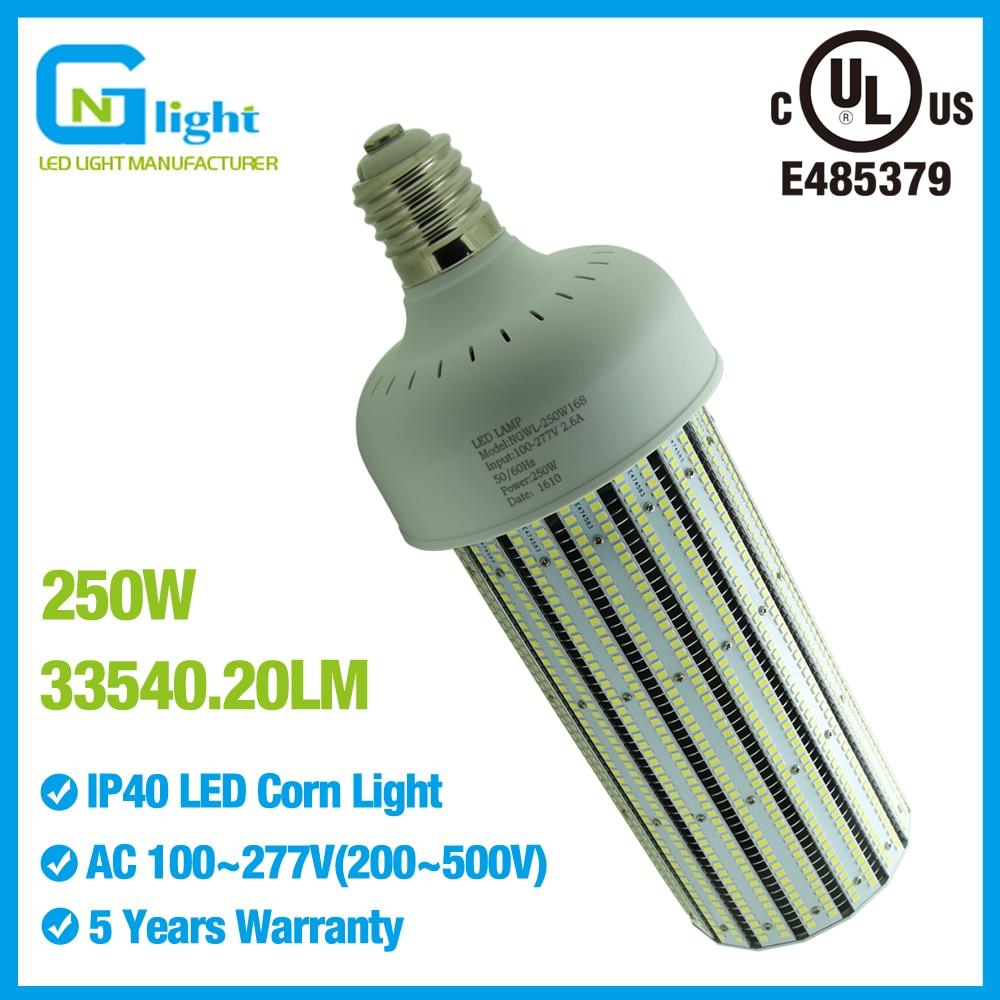 ul listed 250w led corn lights 33540lm 1000 watt hps led replacement