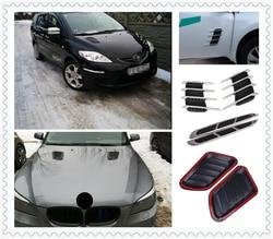 Kształt samochodu ozdobny kaptur naklejka symulacja vent wylot powietrza dla Chevrolet Cobalt Celta West Uplander Cavalier Astra|Naklejki samochodowe|   -
