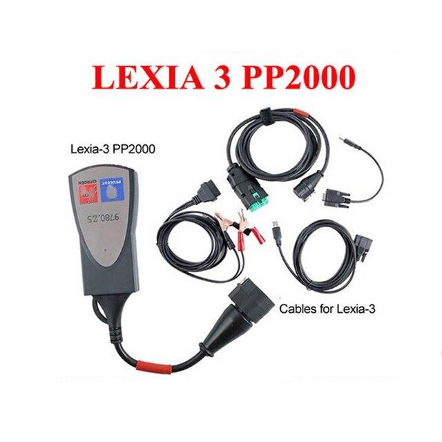 2016 Lexia 3 Диагностический Инструмент lexia3 PP2000 diagbox V7.83 программного обеспечения V48 Автомобилей сканер Для Citroen для Peugeot Профессиональный