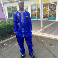 Free DHL African Dresses New African Fashion Bazin Riche Embroidery Men Shirt With Trouser Two