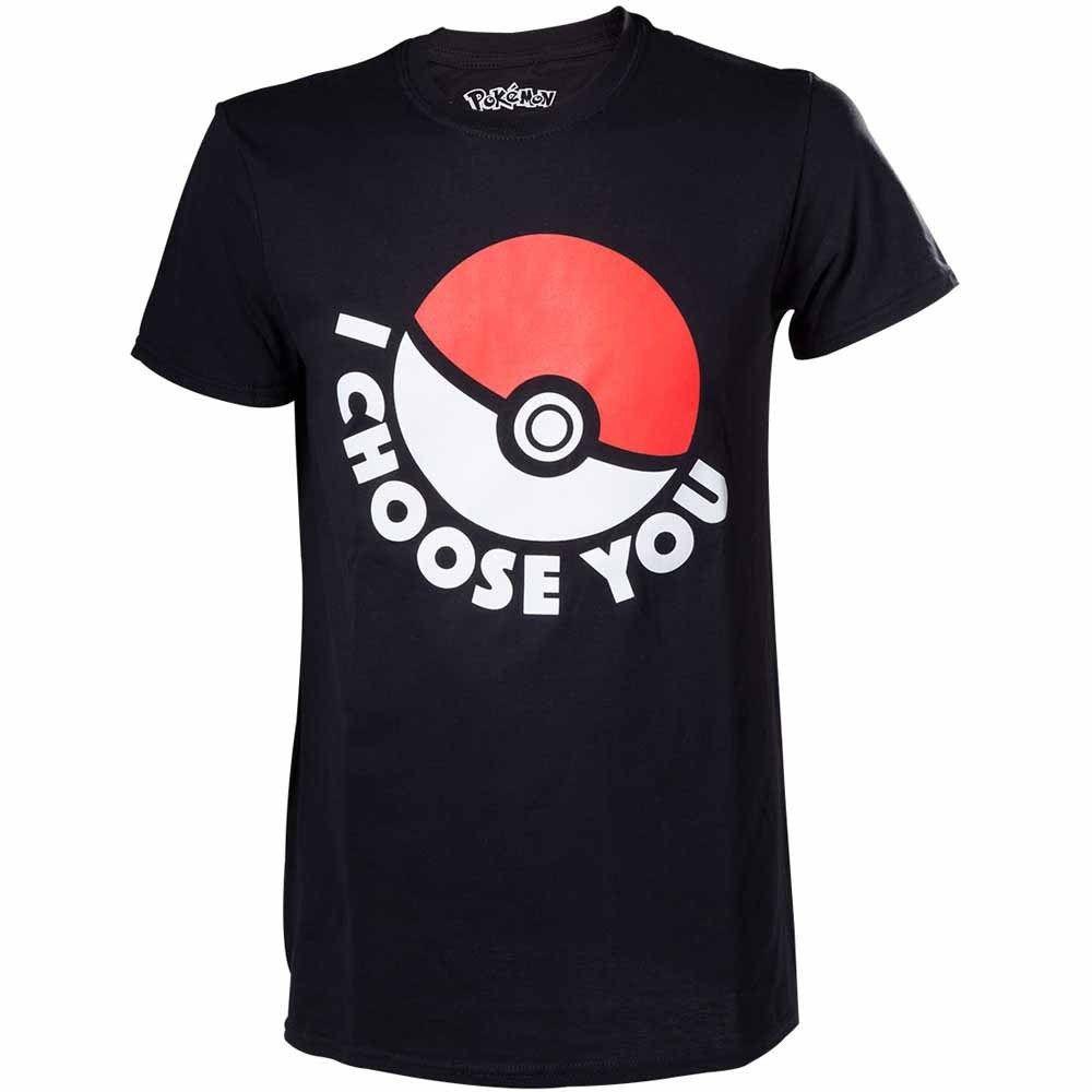 Cotton Men t-shirt Pokemon I Choose You T-Shirt Unisex Size Grobe XS BIOWORLD MERCHANDISING Summer Style T shirt