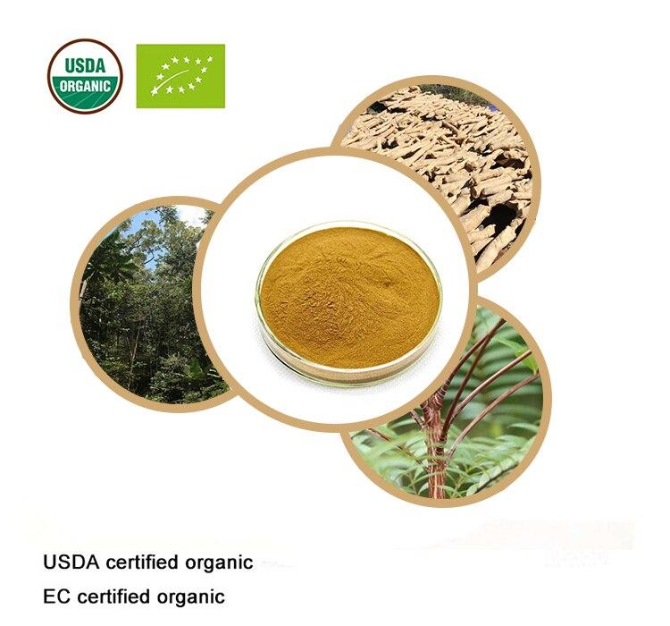 USDA и EC Сертифицированные Органические Tongkat Ali экстракт 20:1