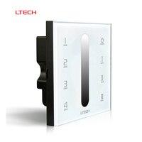 Ltech d5 dmx512 2.4 גרם rf wireless לוח מגע בקר צבע יחיד אור led דימר שליטת 4 ערוצים dmx קיר מתג