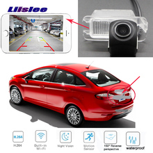 LiisLee  WIFI Rear View camera for Ford Fiesta sedan 2013~2018 CCD Reversing Parking Camera license wireless