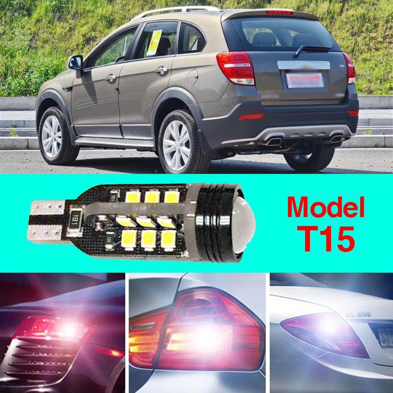 Ownsun Error Free T15 Socket 360 Degrees Projector Lens LED Backup Reverse light R5 Chips Replacement Bulb For Chevy Captiva ruiandsion 2x75w 900lm 15smd xbd chips red error free 1156 ba15s p21w led backup revers light canbus 12 24vdc