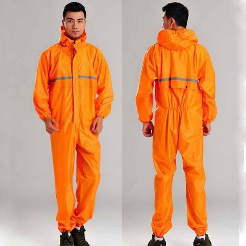 Fashion  motorcycle raincoats /Conjoined raincoats/overalls men and women fission rain suit SIZE:S--XXXXL Free shipping мужские кожанные куртки с косой молнией