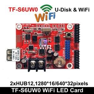 Image 2 - אסינכרוני TF S6UW0 LED סימן WIFI בקרת כרטיס, P10 P8 P5 P6 מודול פנל LED תצוגה, מתאים יחיד & כפול צבעים